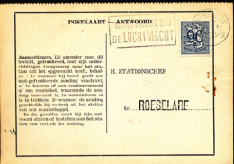 BELGIQUE CARTE DE SERVICE POSTKKAART ANTWOORD ANTWERPEN ROESELARE - Sin Clasificación