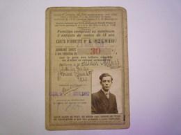 CARTE De REDUCTION  SNCF  1932   XXX  (Robert MILHAS) - Transportation Tickets