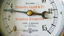 MANOMETER SCHNEIDER JAQUET STRASSBURG KÖNIGSHOFEN SCHÄFFER 1 BUDENBERGMAGDEBURG BUCKAU - Other Apparatus