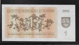 Lituanie - 1 Talonas -  Pick N°39  - NEUF - Lituania
