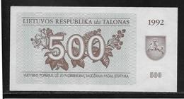 Lituanie - 500 Talonas -  Pick N°44  - NEUF - Lituanie