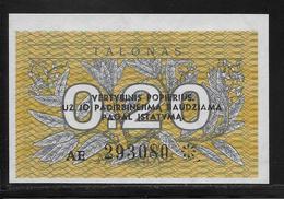Lituanie - 0,20 Talonas -  Pick N°30  - NEUF - Lithuania