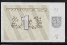 Lituanie - 1 Talonas -  Pick N°32a  - NEUF - Lithuania