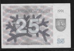 Lituanie - 25 Talonas -  Pick N°36b  - NEUF - Lithuania