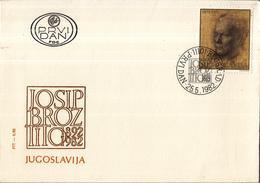 Joegoslavië - FDC 25-05-1982 - 90. Geburstag Von Josip Broz Tito - M 1929 - FDC