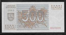 Lituanie - 500 Talonu -  Pick N°46  - NEUF - Lituanie