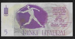 Lituanie - 5 Penki Litaurai - NEUF - Lituanie