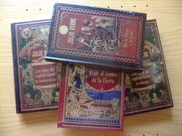 JULIO VERNE Lote De 4 Libros - Acción, Aventuras