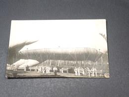 MILITARIA - AVIATION - Carte Postale Photo - Gonflage D'un Dirigeable En 1922 - L 19519 - Dirigibili
