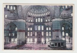 Turkey Turquie Istanbul - Interior Sultan Ahmet Mosque - 2 Scans - Turkey