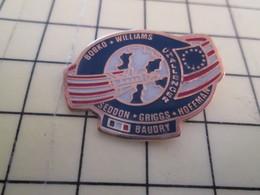 217 Pin's Pins / Beau Et Rare : Thème ESPACE / MISSION NAVETTE SPATIALE PATRICK BAUDRY ET CONSORTS - Space
