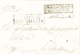 1813 Amts-Faltbrief Von Senigallia Nach Belvedere Mit Interessanten Kastenstempel - Italien