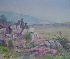 LUC BELIN (Joseph Pierre Lucien ) HUILE SUR TOILE Signée - Paysage (Hautes Alpes / Haute Provence) - Oils
