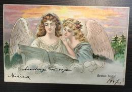 AK   ANGEL  ENGEL   1907.  EMBOSSED  LITHO - Anges