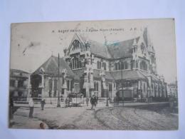 Saint-Denis L'église Neuve (l'Abside) J. F. Ligne De Tram Circulée 1919 - Saint Denis