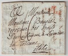 "1812, Rouge "" 56 - DECISE ""  Marque Lineaire , Non Signalee En Rouge  !!!! , A427 - Marcofilia (sobres)"