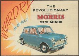 Advertising - The Revolutionary Morris Mini-Minor - Merely Motoring Postcard - Passenger Cars