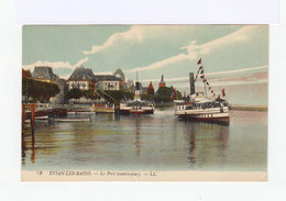 Evian Les Bains. Le Port. Avec Bateau De Croisières. (2966) - Evian-les-Bains
