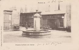 Romans -1900- RARE - Fontaine Du Puits Du Cheval  (boucherie Du XX° Siècle) - Scan Recto-verso - Romans Sur Isere