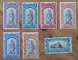 SAINT-MARIN - YT N°53 à 59 - Au Profit Des Volontaires De La Grande Guerre - 1918 - Neufs Et Oblitérés - Oblitérés