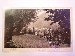 REPUBLICA D'ANDORRA  :  Les ESCALDES  -  Contrejour   1934   XXX - Andorra