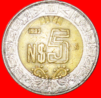 # SUN STONE: MEXICO ★ 5 NEW PESOS 1993! LOW START ★ NO RESERVE! - Mexico