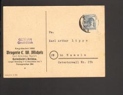 Alli.Bes.12 Pfg.Arbeiter A.Postkarte Aus Helmstedt 1947  Drogerie Michels - Gemeinschaftsausgaben