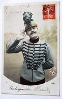 CPA Guerre Uniforme Un Bonjour De Breuil En Auge 1907 1 Génie Versailles - Uniformes