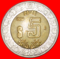 # SUN STONE: MEXICO ★ 5 PESOS 1998! LOW START ★ NO RESERVE! - Mexico