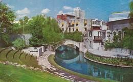 CARTE POSTALE ORIGINALE DE 9CM/14CM : SAN ANTONIO A BEAUTIFUL RIVER THEATRE TEXAS  USA - San Antonio