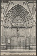 Portail Latéral Nord, Notre-Dame, Paris, C.1910 - Malcuit CPA - Notre Dame De Paris