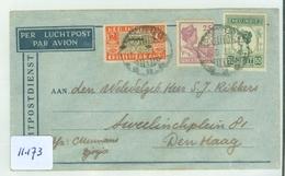 L.P. NEDERLANDS-INDIE BRIEFOMSLAG Uit 1934 Gelopen Van DJOKJAKARTA Naar DEN HAAG  (11.173) - Netherlands Indies