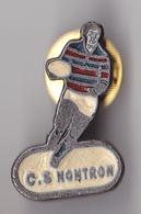 PIN'S THEME SPORTS  RUGBY CLUB DE NONTRON EN DORDOGNE 2 EME VARIANTE  SOL BLANC - Rugby