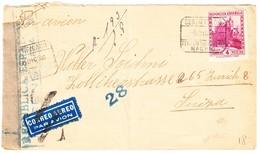 1938 Zensurierter Eingeschriebener Brief Aus Madrid Nach Zürich, Bedarfsspuren - 1931-50 Lettres
