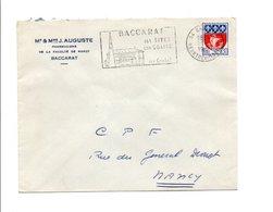 FLAMME CRISTAL DE BACCARAT MEURTHE ET MOSELLE 1967 - Storia Postale