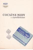 Carton Publicitaire De Pharmacie Cocaïne Midy Laboratoires Midy Paris - Advertising