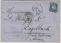"""Alsace, 1871, Affr. Double, Taxe """" 20 """" , A434 - Alsace-Lorraine"""