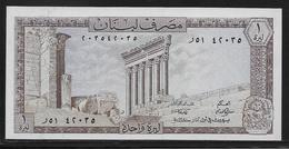 Liban - 1 Livre - Pick N°61 - NEUF - Libano