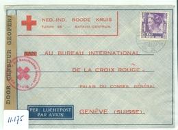 L.P. * RODE KRUIS * NEDERLANDS-INDIE CENSUUR BRIEFOMSLAG Uit 1940 Gelopen Van MALANG Naar GENEVE  (11.175) - Niederländisch-Indien