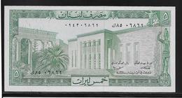 Liban - 5 Livres - Pick N°62 - NEUF - Lebanon