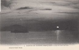 Cp , TRANSPORTS , MARINE De GUERRE FRANÇAISE , Clair De Lune Sur Rade - Guerra