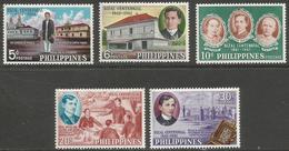 Philippines - 1961 Rizal Centennial MH *  Mi 677-81  Sc 836-40 - Philippines
