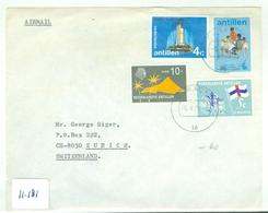 L.P. NEDERLANDS-INDIE BRIEFOMSLAG Uit 1975 Gelopen Van CURACAO Naar ZURICH (ZWITSERLAND)  (11.181) - Curazao, Antillas Holandesas, Aruba