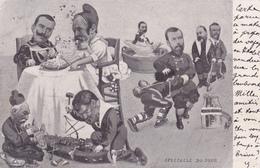 CPA Politique Caricature Satirique Guillaume II Loubet Combes Nicolas II Pelletan Illustrateur - Satiriques
