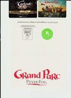 Lot 2 Tickets Entrées Grand Parc Et Cinéscénie Puy Du Fou 2018 France + Cadeau Serviette Papier Du Parc - Tickets - Vouchers