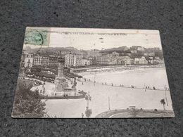 ANTIQUE POSTCARD SAN SEBASTIAN - PARQUE Y PASEO DE LA CONCHA CIRCULATED 1918 - Guipúzcoa (San Sebastián)