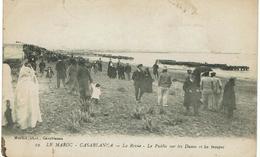 CPA - MAROC - CASABLANCA - La Revue - Le Public Sur Les Dunes Et Les Troupes - - Casablanca
