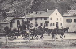 Bernina-Postkutsche Bei Bernina-Häusern - 1911         (P-147-60909) - Post & Briefboten