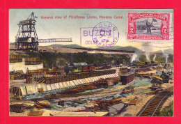 E-Panama-09A99  General View Of Miraflores Locks, Panama Canal, Cpa Colorisée BE - Panama