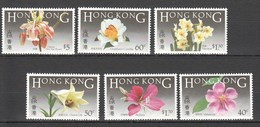 E933 HONG KONG FLOWERS !!! MICHEL 28 EURO !!! 1SET MNH - Végétaux